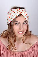 Узкие шарфы FAMO Шарф Гелла оранжевый 150*17 #L/A