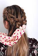 Узкие шарфы FAMO Шарф Гелла розовый 150*17 #L/A