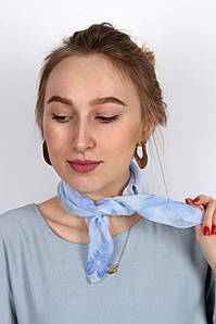 Платок La Feny Шейный платок (косынка) Саванна джинс 50*50 (A 182) #L/A