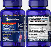 Puritan's Pride, Глюкозамин, Хондроитин и MCM с Витамином Д3, 2000 МЕ, 80 таблеток