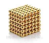 Головоломка Неокуб 6 мм золото, NeoCube / 216 шариков
