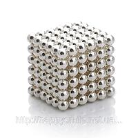 Неокуб, neocube 6 мм серебро, магнитные шарики