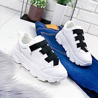Кроссовки женские Emma белые+черный 9407