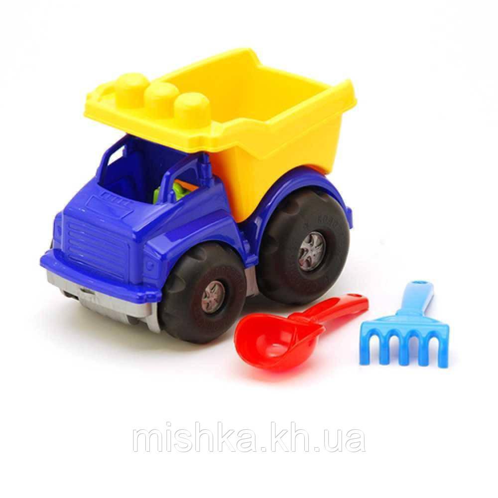 """Машинка """"Тотошка"""" самосвал №1: машинка, лопатка и грабельки (ЛГ3)"""