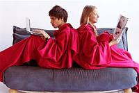 Плед (одеяло) с рукавами, красный