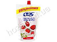 Крем-мыло косметическое жидкое в пакете Olis Земляника 500 мл.