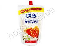 Крем-мыло косметическое жидкое в пакете Olis Молоко и мёд 500 мл.