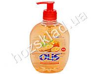 Крем-мыло туалетное жидкое Olis з гліцерином Дикая корица и апельсин с дозатором 300мл.