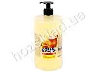 Крем-мыло туалетное жидкое Olis Молоко и мед с дозатором 1л