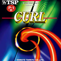 Накладка для настольного тенниса TSP Curl P-1R чёрный, 1.0 мм