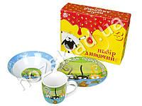 Набор детской керамической посуды в яркой под. уп. Не пора бы нам подкрепиться Котята 3 предмета