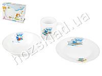 Набор детской керамической посуды в яркой подарочной упаковке Бегемотик 3 пр.