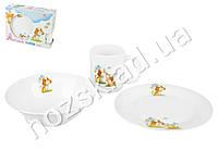 Набор детской керамической посуды в яркой подарочной упаковке Друзья 3 пр.