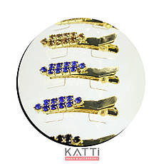 42144 заколка KATTi уточка металл малая золото со стразами 4см 2шт, фото 3