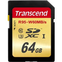 Карта памяти Transcend 64Gb class 10 UHS-I U3 Ultimate