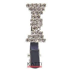 42148 заколка KATTi уточка металл малая серебро фигурная со стразами 4см 1шт, фото 2