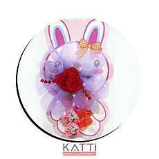 KATTi набор детский 29 794 3в1 защип с бантом-розой сеткой, 2 защип-уточки (цвета в ассортименте), фото 3