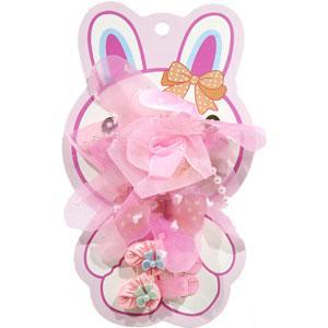 KATTi набор детский 29 794 3в1 защип с бантом-розой сеткой, 2 защип-уточки (цвета в ассортименте)