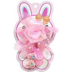 KATTi набор детский 29 794 3в1 защип с бантом-розой сеткой, 2 защип-уточки (цвета в ассортименте), фото 2