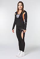 Спортивные женские штаны Radical Aphrodite утепленные S Черные с оранжевым (r0473)