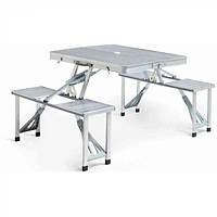 Туристический складной стол трансформер для пикника на дюралюминиевой основе #D/S
