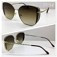 Солнцезащитные очки женские красивые коричневые градиент