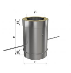 Регулятор тяги дымохода нерж/оц 1 мм 150/220