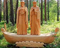 Скульптуры из дерева людей, ручная резьба по дереву (Hand Carved Artwork 08)