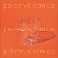 Стакан склопластик прозорий 200мл 25шт. 1/36