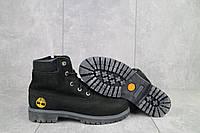 Ботинки подростковые Monster T черные-нубук (натуральная кожа, зима)