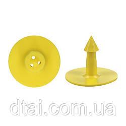 Круглая ушная бирка MS Schippers для идентификации свиней, коз, овец, собак (цвет желтый)
