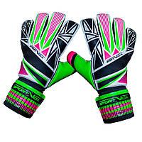 Вратарские перчатки SportVida зеленые Size 6 латекс SV-PA0003 SKL41-161712