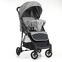 Детская прогулочная коляска-книжка Bambi M 4249 GRAY серый