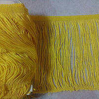 Бахрома танцевальная (лапша) 13см/9м, желтый