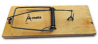 Мышеловка средняя, ловушка для мышей средних размеров деревянная механическая