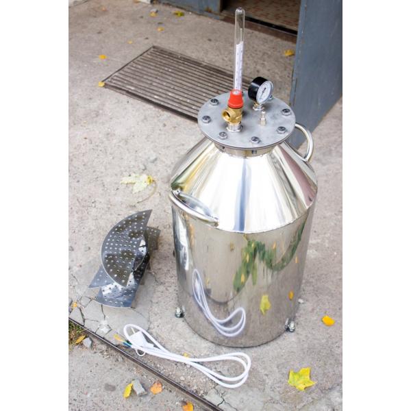 Автоклав бытовой электрический НРЖ-эл на 30 банок, крышка на болтах, терморегулятор - Интернет магазин «Наш базар» быстро, доступно и качественно в Киеве