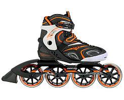 Роликовые коньки Nils Extreme черно-оранжевые Size 40 NA1060S SKL41-227568