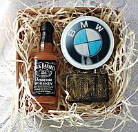 """Мыло ручной работы """"Набор  виски Jack Daniel's, зажигалка Jack Daniel's, значок bmw"""""""