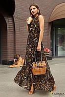 Легкое летнее платье в горох Р 2173 #O/V