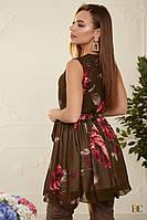 Платье А-силуэта из шифона Р 2134 #O/V