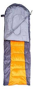 Спальный мешок GreenCamp GrC1009 правый серо-оранжевый