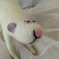 """Валяная крыса """"Умница"""" из шерсти, сухое валяние, авторская игрушка в подарок для друзей, родных, близких, фото 1"""