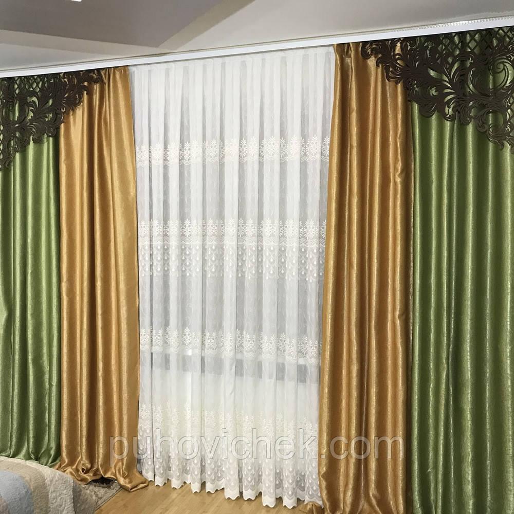 Комплект штор из плотной ткани модный