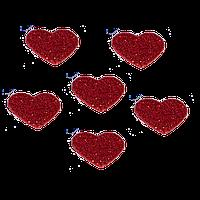 Сердечки из фоамирана 2.4 см Красные