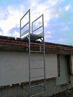 Вертикальная Пожарная Лестница №1 наружная