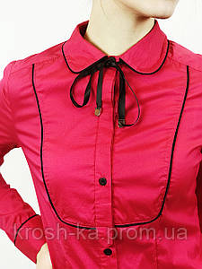 Блуза рубашка женская малиновая(40)р Nysense Франция 2604