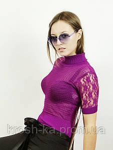 Блуза женская ажурная сиреневая(36)р Nysense Франция 02852