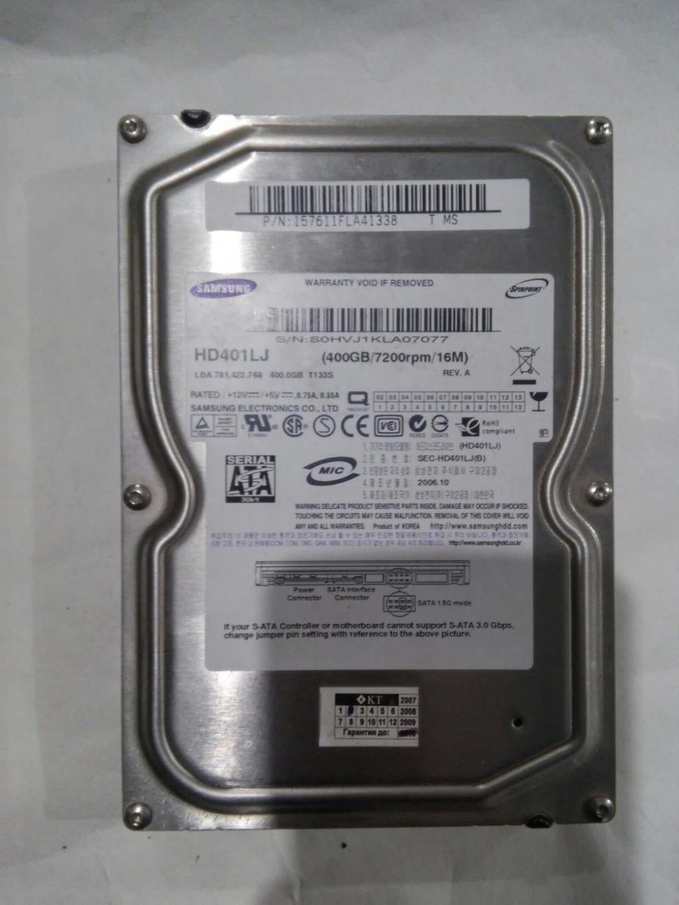 Жесткий диск Samsung 400GB 7200rpm 16MB (HD401LJ) SATA-II