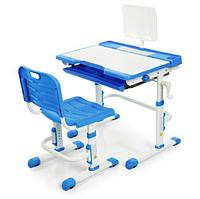 Детская парта со стульчиком BAMBI 3111(2)-4 регулируемая,синего цвета.
