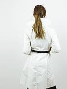 Плащ коттоновый женский белый (34,36)р Nysense Франция 9052, фото 2